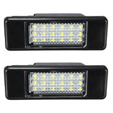 2 x LED SMD Lisansı Kap Peugeot için Işık 106 207 307 308 406 407 508 Beyaz