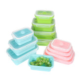4 Pcs Set Pliant Conteneurs Silicone Food Storage Micro-Onde Réfrigérateur Lunch Box