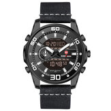 KADEMAN 6156G Luminous Date Week Display Dual Display Watch