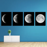 Miico pintado a mano cuatro combinaciones decorativas pinturas gradiente luz de la luna arte de la pared para la decoración del hogar