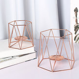 Metal Candle Holders Geometric Hexagon  Candle Holder Wedding Home Decor Tabletop Lantern