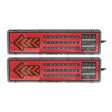 2Pcs 24V LED Fanali posteriori Indicatori di direzione freno per rimorchio roulotte camion auto