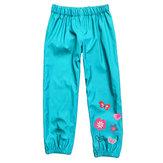 Niños al aire libre Lluvia Pantalones Impermeable A prueba de viento Niños Niñas Flor Pantalones Durante 2-9 años