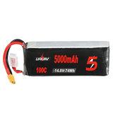 URUAV 14.8V 5000mAh 100C 4S Lipo البطارية XT60 Plug for RC Racing Drone