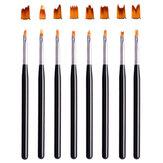 Prego pétalas Pen Nail Art Esculpido Pen Manicure Tools pintado Escova unha ferramenta Art