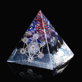 Reiki Energy Charged Large Amethyst Quarz 7 Chakra Orgone Pyramid for Crystals