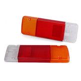 Paire de feu arrière de frein arrière pour objectif de lampe de frein blanc + rouge + orange pour Toyota Hilux Landcruiser Ute