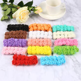 144pcs 14 colores flores artificiales mini rosas de espuma Boda decoraciones de ramo