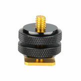 Sıcak Ayakkabı Adaptörü Dönüştürücü Dağı 1/4 İnç Standart Vida DLSR Kamera için