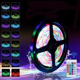 0.5M 1M 2M 3M 4M 5M DC5V SMD2835 USB RGB LED Luz de tira à prova d'água Luz de fundo Lâmpada de TV + 24Keys Controle Remoto