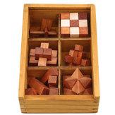 Holz Kong Ming Lock Spiel Spielzeug für Kinder Erwachsene Kinder IQ Brain Teaser Interlocking Puzzles
