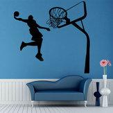 Basquete removível dunk esporte diy adesivo de parede kids room art decor decalques