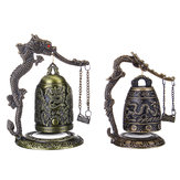 Bronze Bell Carved Dragon Buddhist Clock Bronze Chinese Good Luck Bell Desk Decorations