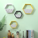 Modern Simple Hexagon Wall Hanging Storage Shelf Flower Plant Rack Bookshelf Office Home Decorations Stand