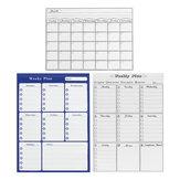 Weeky Monthly Magnetic Whiteboard Sticker Fridge Wall Memo Plan Shopping List Board
