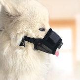 DODOPET Verstelbare Pet Mond Cover Anti Stop Kauwhond Mond Masker Gezichtsmasker Jachthond Levert