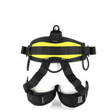 Safety Rock Tree Climbing Rappelling Harness Seat Sitting Belt Half Body Harness