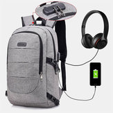 Men Women Large Capacity Fashion Anti-Theft USB Backpack