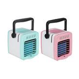 Mini manija USB Refrigerador de aire Humidificador Purificador Depósito de agua de 300 ml Ventilador luz LED