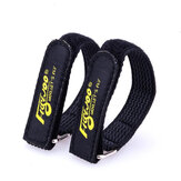2PCS FLYWOO 20x250mm Battery Strap w/ Woven Rubber Grip & Metal Buckle for RC Drone FPV Racing