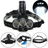 BIKIGHT TH-124 3000LM 5xT6 LED USB Rechargeable Headlamp Zoomable Torch Light Camping Cycling Night Warning Light
