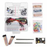 Grundlegende Starter-Kits für 200-teilige Elektronikkomponenten Widerstands-Summer-Kondensator-LEDs