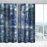 2 panel 3D Pringting sötétítő ablakfüggöny Hővédő fóliák a dolgozószoba hálószobájához