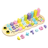 3 In 1 Education Assembling Logarithmic Board Digital Shape Building Block Toys