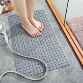 Non-slip Bath Shower Bathtub Mat Rubber Bathroom Floor Rug Massage Suction Cup