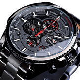 Forsining GMT1137 Homens Moda Assista Luminous Week Month Display Automatic Mecânico Watch