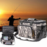 ZANLURE Canvas Fishing Bag Waterproof Fishing Lure Bait Bag Multifunctional Handbag