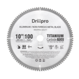 Drillpro 10 Inch 100 Teeth Saw Blade TCT Aluminum Non-Ferrous Metal Saw Blades for Circular Saw Miter Saw Table Saw Radial Arm Saw