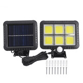 50W COB Solar Wall Street Light bewegingssensor Outdoor Yard Garden oprit Lamp