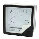 6C2-A 10A/50A/100A/200A Square Panel Pointer AC Ammeter  Analog Meter Ammeter
