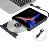 Externes optisches USB-C-Laufwerk USB 3.0 Type-C CD / DVD-Player CD-Brenner für PC Laptop Windows