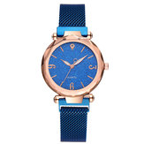 DEFFRUN A312 Simple Design Milanese Steel Star Women Watch