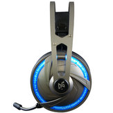 A60 Gaming Headphone USB 7.1 Channel RGB Cahaya Over-ear Headset Stereo untuk Komputer Laptop