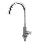 32x13.5cm Stainless Steel Kitchen Sink Faucet Single Lever Cold Water Tap Silver Faucet
