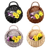 Rustic Wicker Rattan Wall Hanging Flower Baskets Pot Home Balcony Wedding Decor Gift