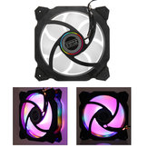 120mm LED Cooling Fan RGB DC 12V 3Pin Brushless Cooler For DIY Computer Case PC CPU
