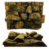 3D PU Rock Stone Aquarium Fond Toile de Fond Reptile Board Fish Tank Décorations