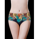 Printed Seamless Lightweight Ice Silk Breathable Briefs