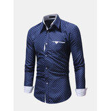 Heren Ster Bloemen Business Slim Fit Shirts