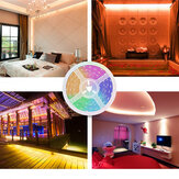 2M 3M 5M 10M Non-waterproof SMD2835 RGB LED Strip Light + 24Keys Remote Control Outdoor Indoor KTV Hotel DC12V