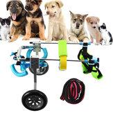 القط الكلب على كرسي متحرك المعاقين الكلب المشي الجر أدوات التدريب XXS