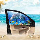 Cartoon Magnetic Car Curtain Adjustable Sun Shade Visor Car Window Sun Blocks Baby UV Rays Protection