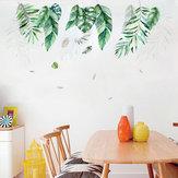 Miico FX82019 2 PCS Botanic Leaves Etiqueta de la pared Etiqueta decorativa Etiqueta extraíble DIY Etiqueta