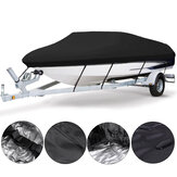 11-13ft 14-16ft 17-19ft 20-22ft Boat Cover UV-Protected Premium Heavy Duty 210D Trailerable Canvas Black