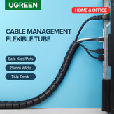 Ugreen 15mm Cutable Cable Holder Organizer Diameter Flexible Spiral Tube Cable Organizer Wire Management Cord Protector Cable Winder