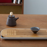 CHENGSHE Bamboo Kungfu Tea Set Storage Type Tea Table Tray from